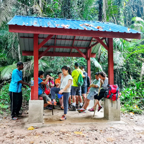 A shelter at Gasing Hill