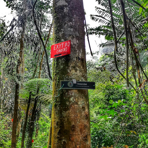 An unofficial signboard in Bukit Gasing