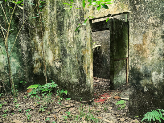 The abandoned house at Gasing Hill