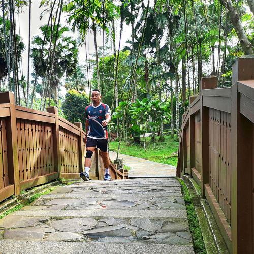 Man walk on pathway