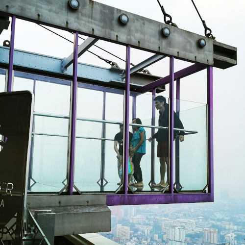 Glass box at Sky Deck