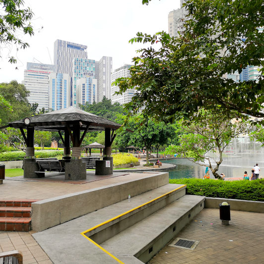 Gazebo at KLCC park