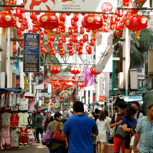 Petaling street during Chinese New Year