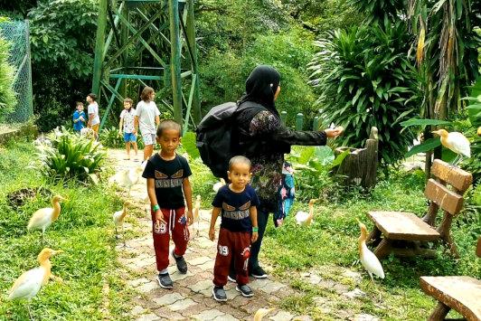KL bird park with family