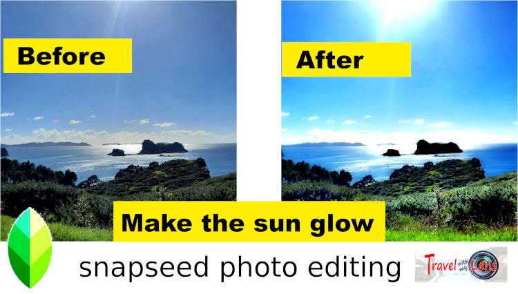 how to use glamour glow in snapseed