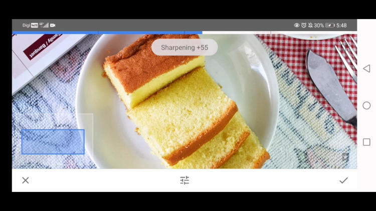 how to use sharpening option in details tool