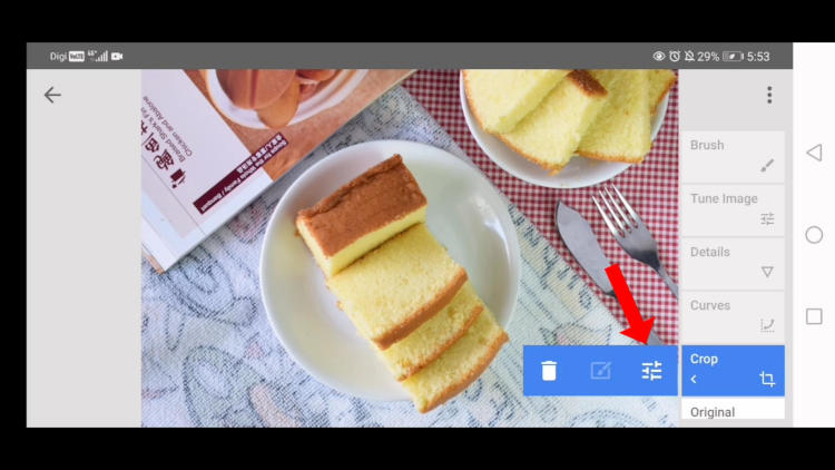 how to change what has edited in snapseed