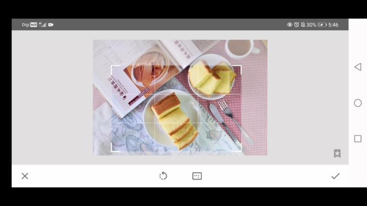 how to crop image with crop tool, edit food photos