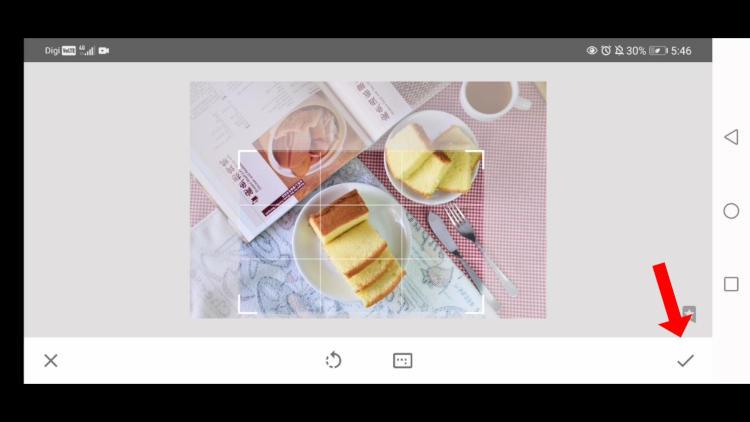 how to crop image edit food photos