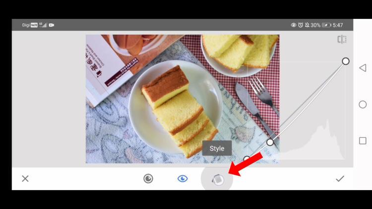 adjust contrast with curves tool, edit food photos