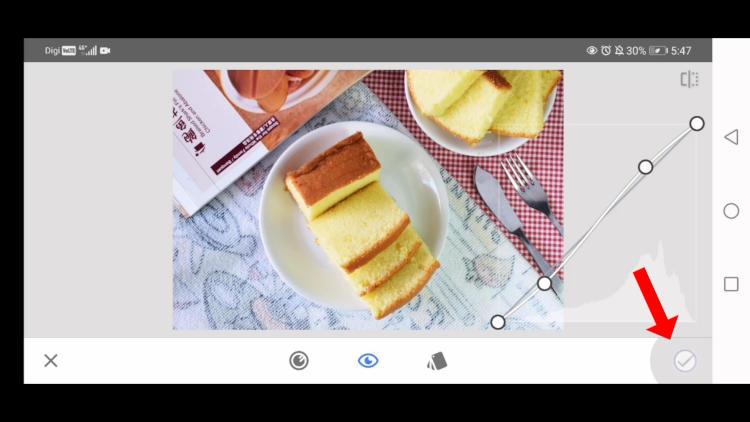 use curves tool, edit food photos