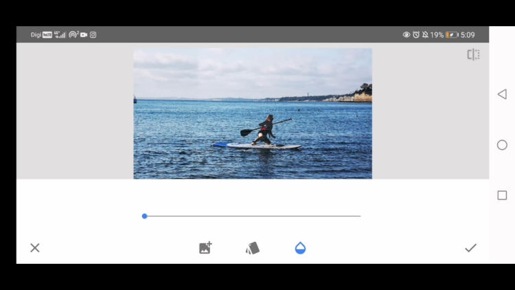 how to remove large object with snapseed
