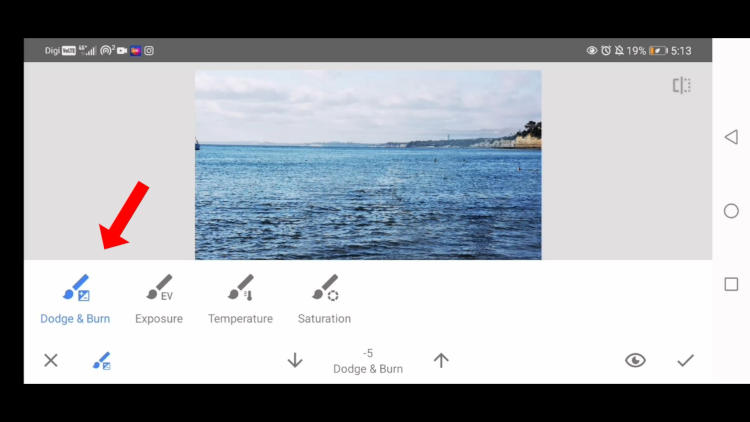 remove an object with snapseed