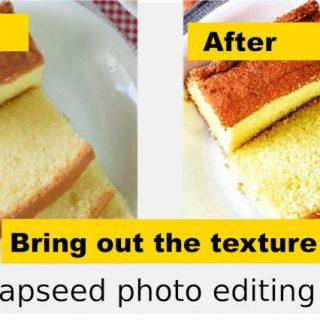 edit food photo with detail tool