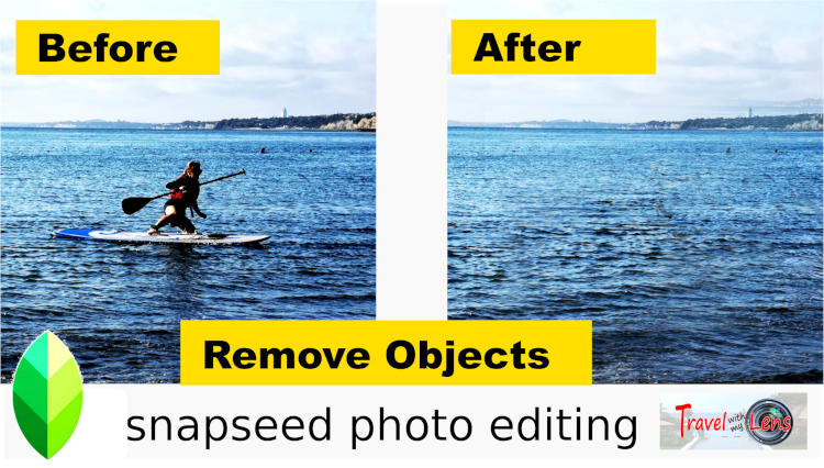 How to remove any objects of a photo with Snapseed (large and small)